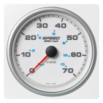 SPEED OVER GROUND 70MPH/115KMH WHITE