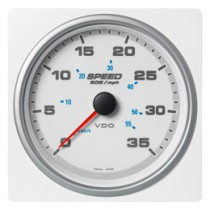 SPEED OVER GROUND 35MPH/60KMH WHITE