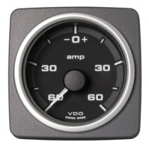 CURRENT GAUGE 60 A , BATTERY STATUS BLAC