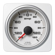 CURRENT GAUGE 150 A, BATTERY STATUS WHIT