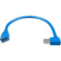 USB extension cable one side right angle